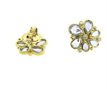 thumbnail image of Temple St. Clair Sapphire Diamond Gold Earrings