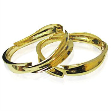 thumbnail image of Tiffany & Co Gehry 18K Gold Fish Bangle Pair Bracelet