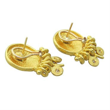 thumbnail image of Denise Roberge 22k Gold Diamond Earrings