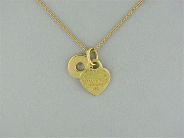 thumbnail image of Tiffany & Co Return To Tiffany 18K Heart Charm Necklace