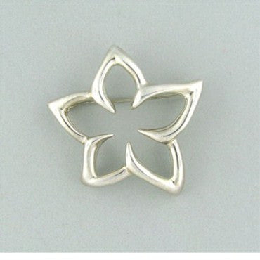 thumbnail image of Tiffany & Co Sterling Silver Star Flower Brooch Pin