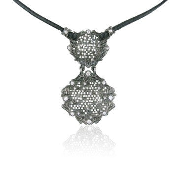 image of Paul Morelli Gold Needle Lace Diamond Necklace