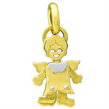 image of New Pomellato Orsetto 18k Gold Angel Movable Pendant Charm