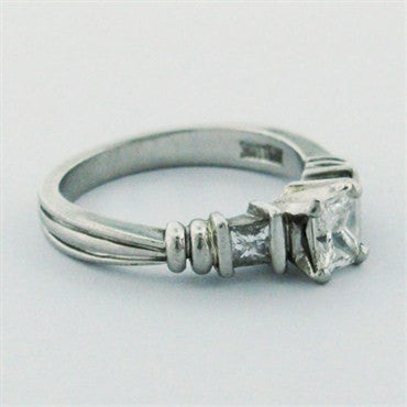 image of Scott Kay Platinum Cut Diamond Engagement Ring