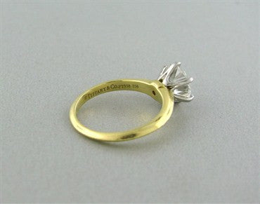 thumbnail image of Tiffany & Co 18K Gold Platinum 1.81ct Diamond Triple Engagement Ring