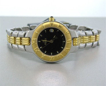 image of Fendi Womens Petite Black Dial Two Tone Watch F90230N