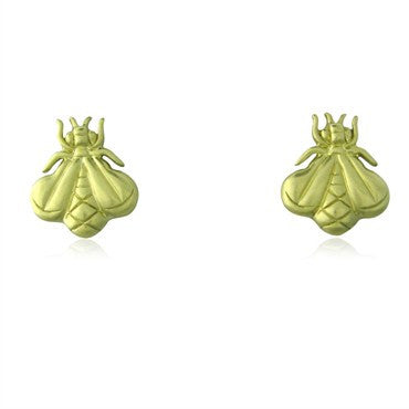 image of Slane & Slane 18K Yellow Gold Bee Free Earrings