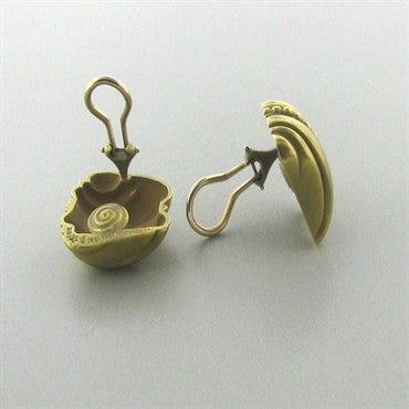 thumbnail image of Estate Kieselstein Cord 18K Gold Earrings