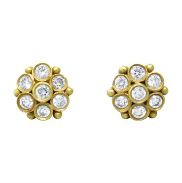 image of Temple St. Clair 18K Gold Diamond Earrings
