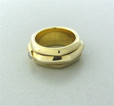 thumbnail image of Piaget 18K Yellow Gold Diamond Rotating Band Ring Size 52