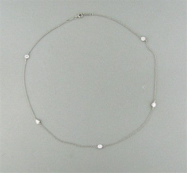 thumbnail image of Tiffany & Co. Elsa Peretti Diamonds By The Yard Platinum Necklace