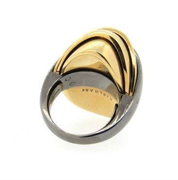 thumbnail image of Mattia Cielo Armadillo 18k Gold Movable Dome Ring