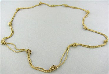thumbnail image of Vintage Tiffany & Co 18K Yellow Gold Knot Necklace