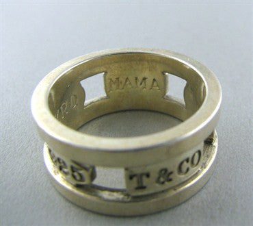 image of Estate Tiffany & Co Sterling Silver 1837 Band Ring