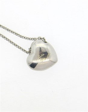 thumbnail image of Pomellato Tabou 18k Gold Diamond Iolite Heart Pendant Necklace