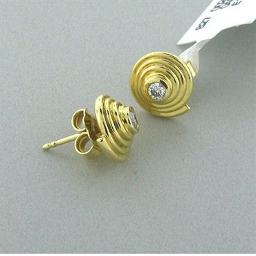 thumbnail image of New Temple St Clair 18k Gold Diamond Stud Earrings