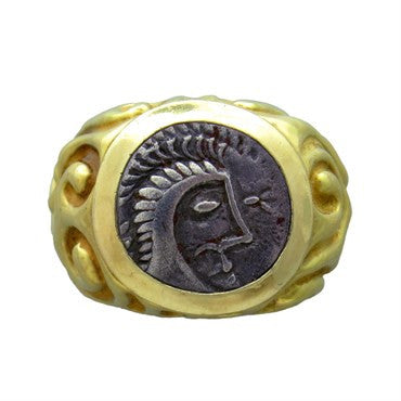 image of Elizabeth Gage Ancient Coin 18k Gold Ring