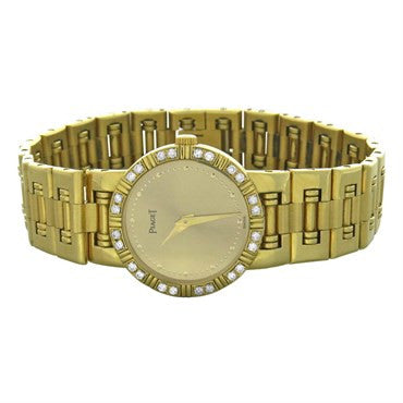 image of Piaget Dancer 18k Gold Diamond Bezel Ladies Watch