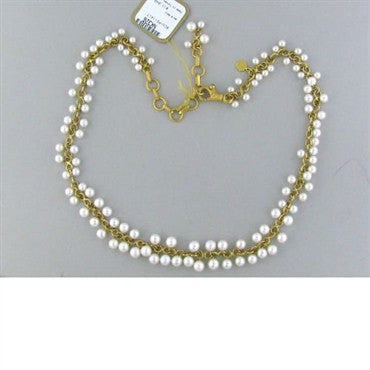 thumbnail image of New Gurhan 24k Gold Emerald Pearl Necklace