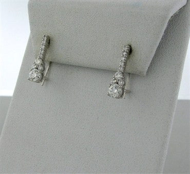 thumbnail image of New Hearts On Fire Triplicity Cluster Diamond Drop Earrings