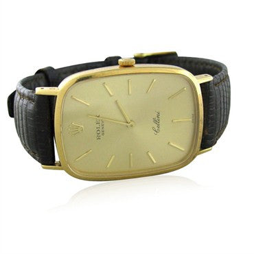 thumbnail image of Mens Vintage Rolex Cellini 18K Gold Manual Wind Watch