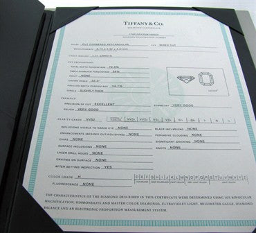thumbnail image of Tiffany & Co Lucida Platinum 1.11ct H VVS2 Diamond Engagement Ring