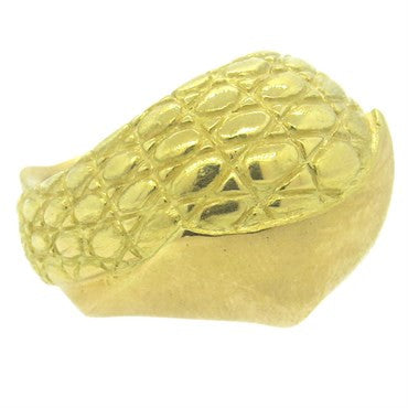image of Pedro Boregaard Lizard Skin 18k Gold Dome Ring