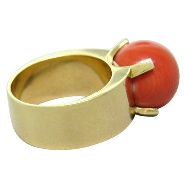 thumbnail image of Gumps Coral 14k Gold Ring