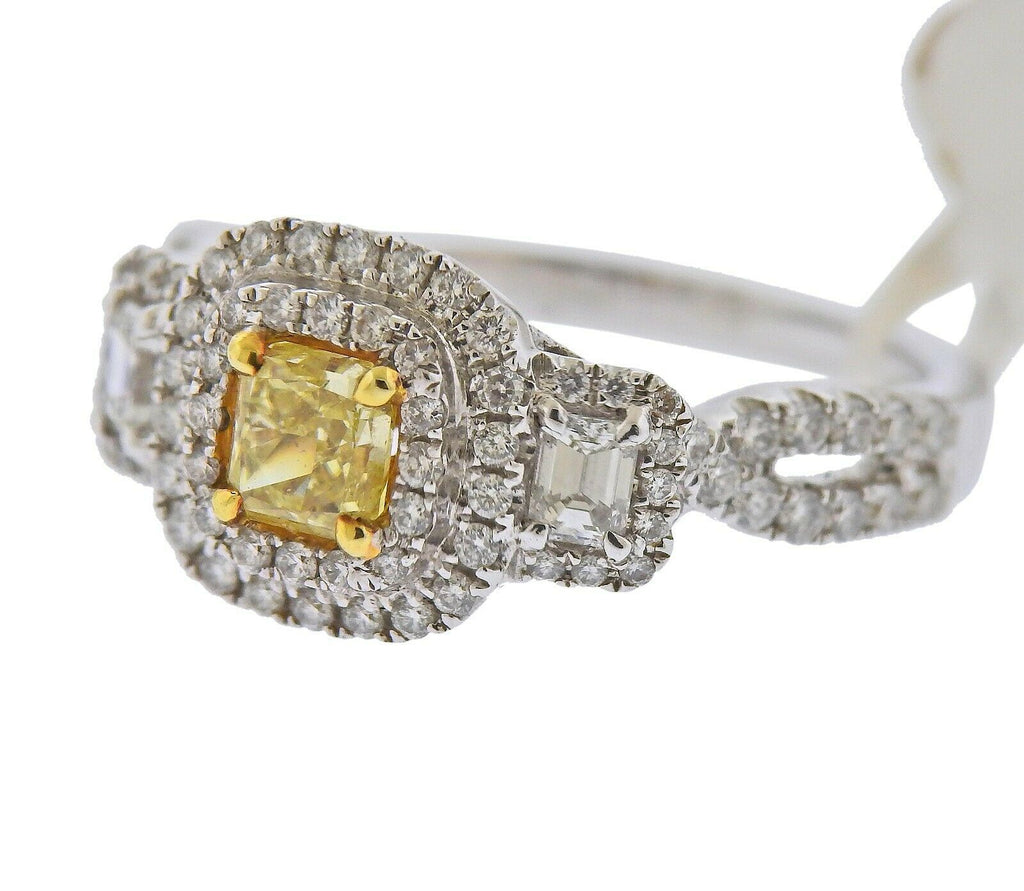 thumbnail image of Dalumi GIA 1.30ctw Fancy Yellow Diamond Gold Engagement Ring