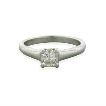 thumbnail image of Tiffany & Co Lucida Platinum 0.54ct G VS2 Diamond Engagement Ring