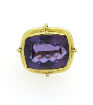 image of Large Amethyst Gold Ring