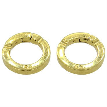 image of Unusual Pomellato 18k Gold Circle Cufflinks