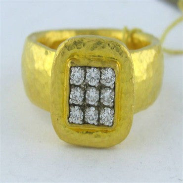 image of New Gurhan 24k Gold 0.36ct Diamond Ring