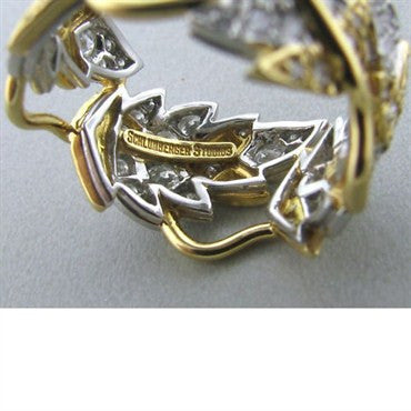 thumbnail image of Tiffany & Co Schlumberger Four Leaves Diamond Ring