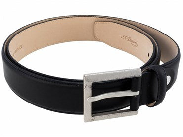 image of ST Dupont Black Leather Casual Chic Belt 7830000