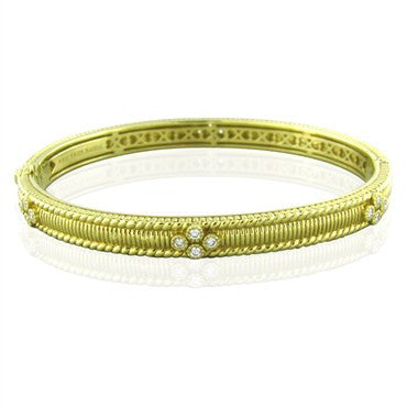 thumbnail image of Judith Ripka Romance Gothic Diamond Bangle Bracelet