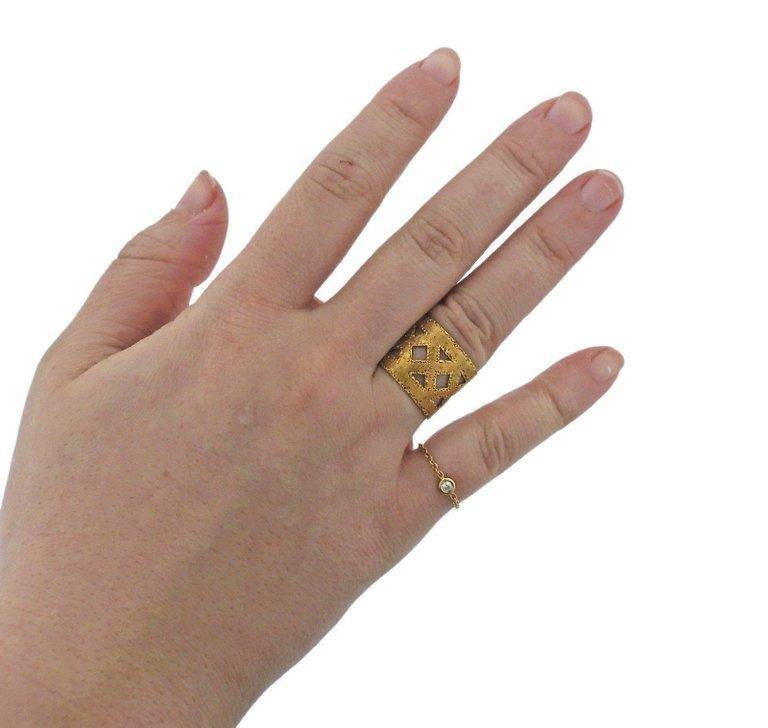 thumbnail image of Buccellati Yellow Gold Wide Band Ring