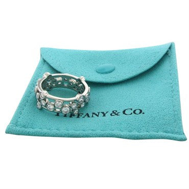 thumbnail image of Tiffany & Co Bubbles Platinum 1.60ctw Diamond Band Ring