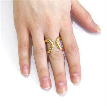 image of Hermes Wide Gold Ring