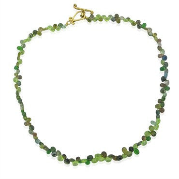 image of Robin Rotenier 18K Yellow Gold Multi Color Gemstone Briolette Necklace