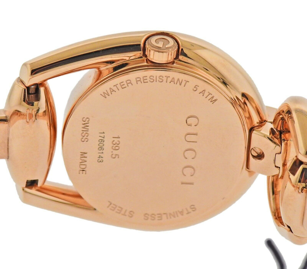 thumbnail image of Gucci Horsebit Rose Gold Tone Ladies Watch YA139507