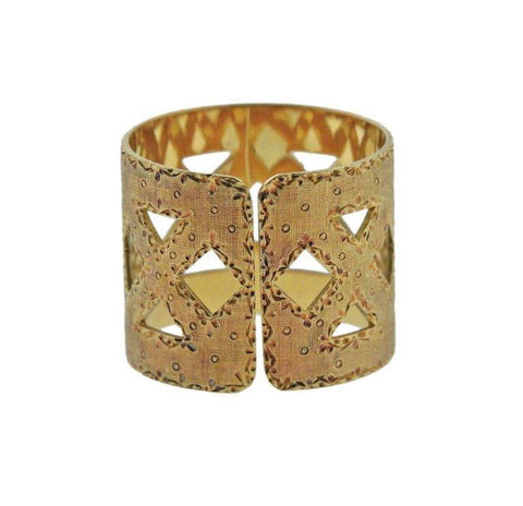 image of Buccellati Yellow Gold Wide Band Ring