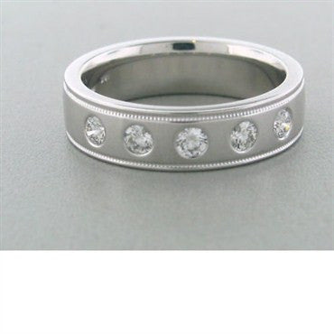 image of Hearts On Fire Mens Duets Five Diamond Band Ring