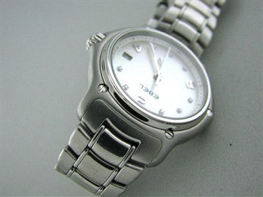 thumbnail image of Ladies Ebel 1911 Series Stainless Steel Diamond Mop Dial Watch