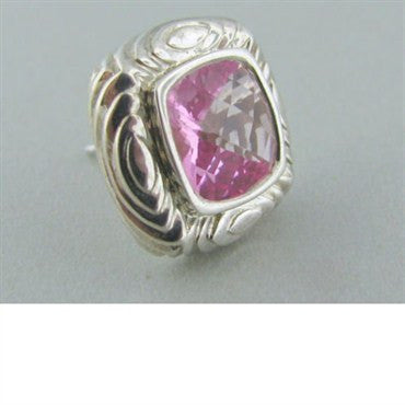 thumbnail image of New Krypell Sterling 14k Gold Pink Topaz Earrings