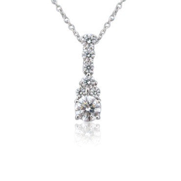 image of Hearts On Fire Triplicity Cluster Drop Diamond Necklace
