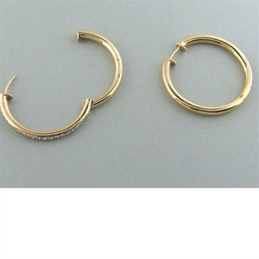 image of Faraone Mennella 18k Gold Diamond Hoop Earrings