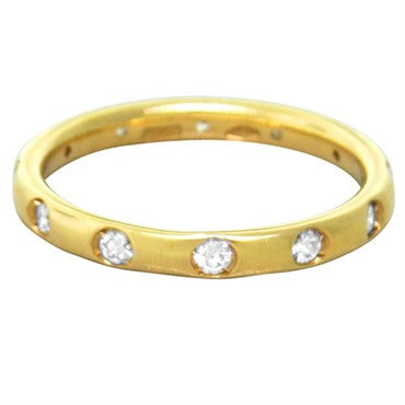 image of New Pomellato Lucciole 18k Gold Rose Gold Diamond Band Ring Size 52