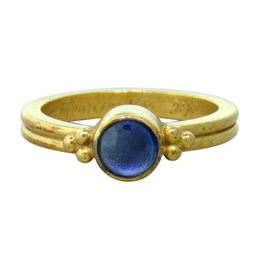 thumbnail image of Reinstein Ross 20k Gold Sapphire Cabochon Ring