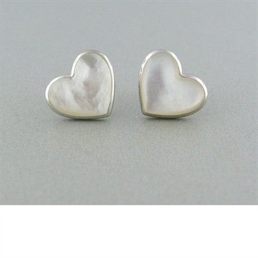 image of Kabana 14k Gold Mother Of Pearl Heart Earrings